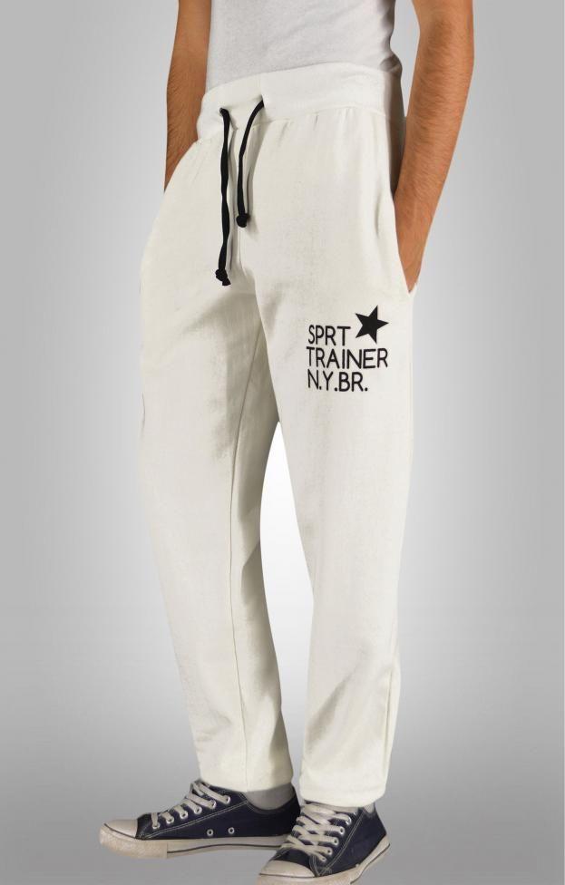 Ανδρικό παντελόνι φόρμας sprt trainer  FORM-1027-wh Φόρμες Αθλητικές