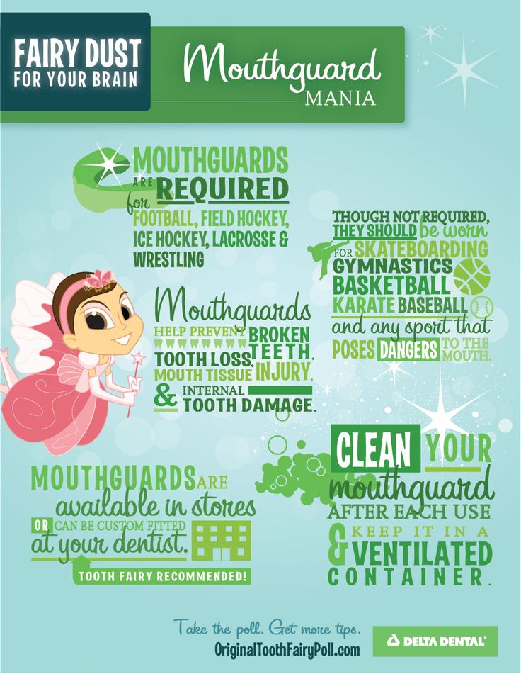 Mouthguards are a good idea for most sports. Make sure your kids' teeth are protected. #DeltaDental