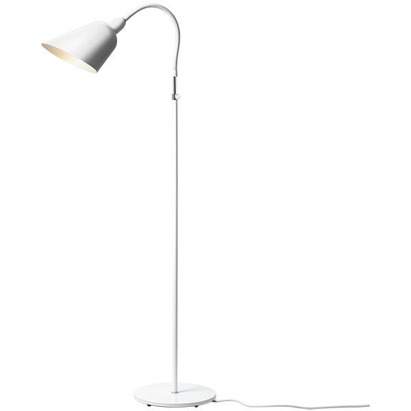 Tradition open box bellevue aj2 floor lamp white 1 for Home floor 5 arm gooseneck lamp