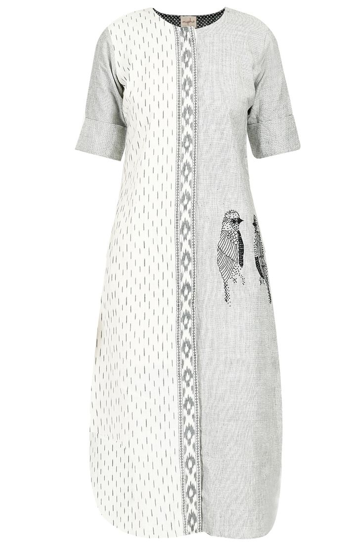 Half and half bird embroidered tunic available only at Pernia's Pop-Up Shop.