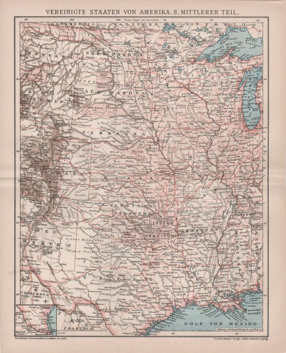 Best Old Maps Images On Pinterest Old Maps Vintage Maps And - Old us map