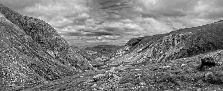 Looking down to Seathwaite on the walk to Great Gable - The Lake District, Cumbria UK - Copyright - Lewis Ryan