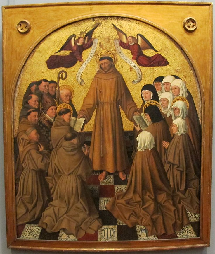 «Saint Francis of Assisi giving the Canon to the Franciscan Orders by Colantonio» 1445 г.