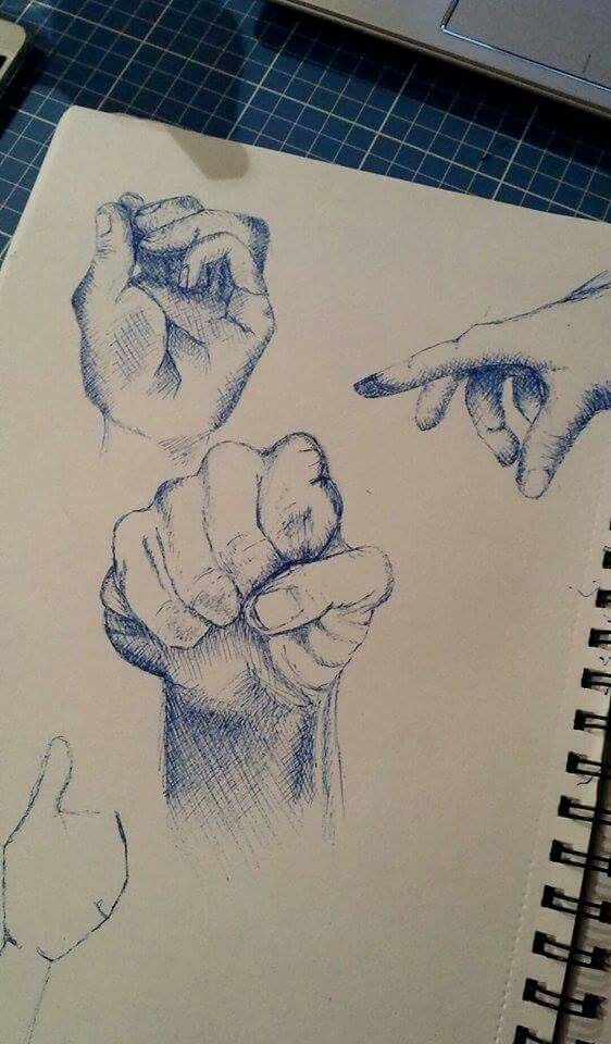 #crosshatched #hands #drawing