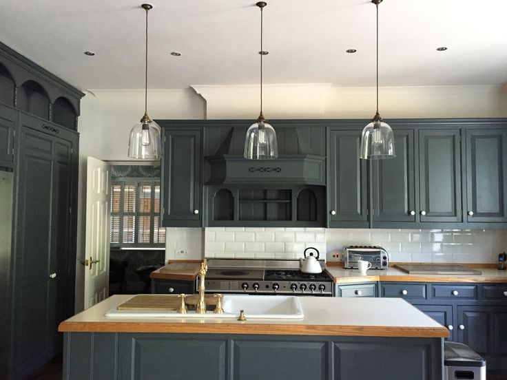 Tips For Kitchen Color Ideas: Kitchen Cupboards Painted In Downpipe Farrow And Ball