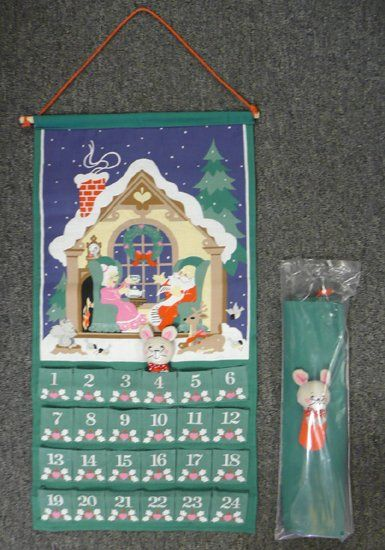 Vintage Avon Christmas Countdown Calendar (my mother hung this in our kitchen every Christmas when I was young)