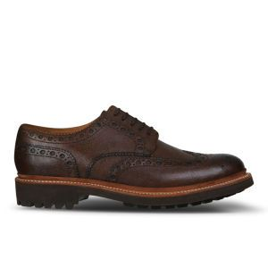 Grenson Men's Archie Leather Brogues - Brown Grain: Image 01