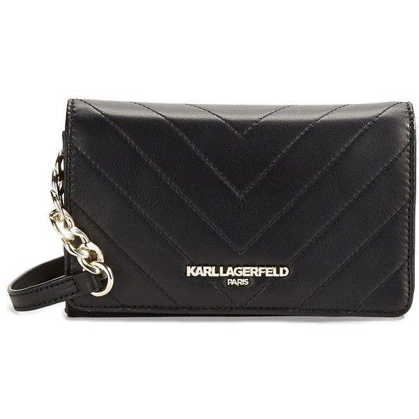 Womens Wallets, Black, PVC, 2017, One size Karl Lagerfeld