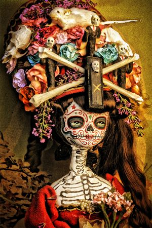 Skeletons Prints, Canon Prints, Of The, Dead Dia De, Muertos Lady, Lady Skeletons, Dead, Halloween