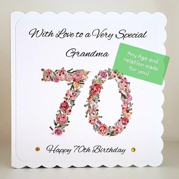 Handmade Personalised Cupcake Birthday Card Mum Sister Friend 18th 30th 40th