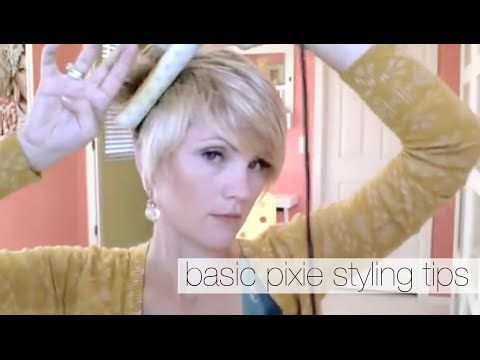 How to Style a Pixie Haircut - YouTube I say yes... he says bangs too long, but they're shorter than the ones I have!