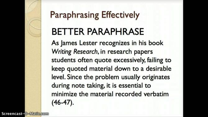 Paraphrasing How To Paraphrase Quote Cite N Apa From Website Be An Example Quotes And