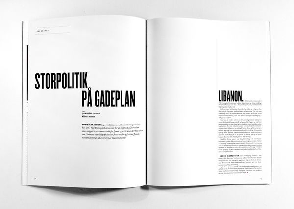 MagSpreads - Editorial Design and Magazine Layout Inspiration: Journalisten Magazine Re-Design