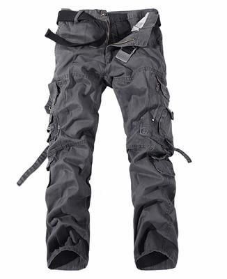 2018 Men Cargo Pant Casual Men Multi-Pocket Overall Male Combat Cotton Trouserseticdress – sstyleshop