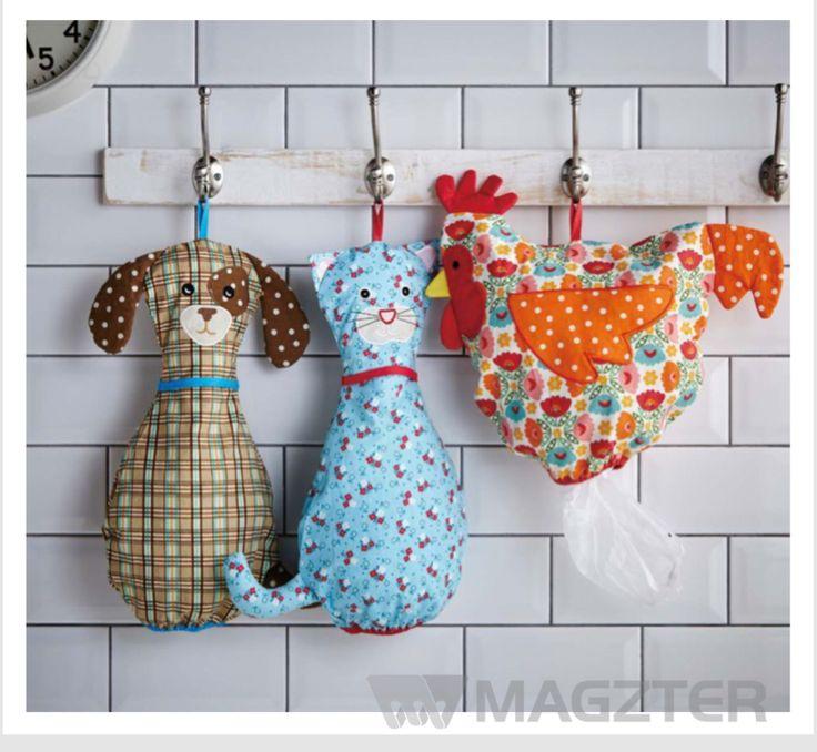 DIY plastic bag holder                                                                                                                                                                                 More
