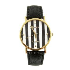 Zegarek czarny w paski elegancki