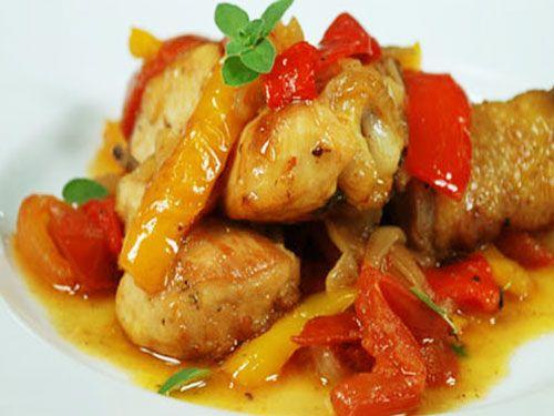 Menù dieta bimby: pollo disossato con peperoni
