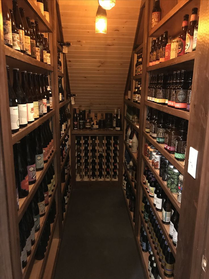 Beer cellar under staircase