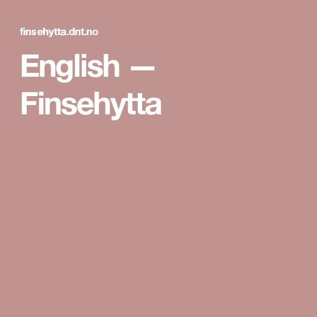 English — Finsehytta