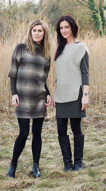 Vævet uld grå/sort tern letbørstet - Stof & Stil