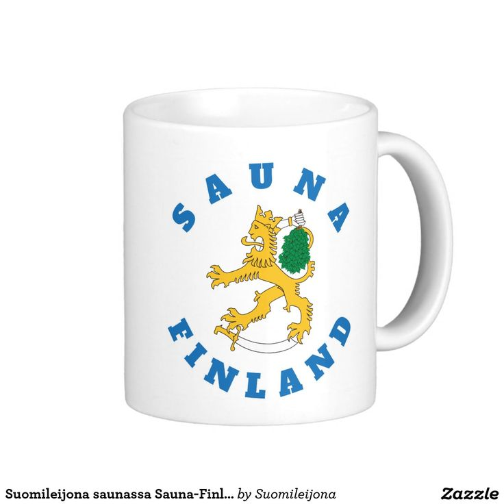 Suomileijona saunassa Sauna-Finland, kuvamuki Basic White Mug  #suomi #sauna #finland #suomileijona #muki #kuvamuki