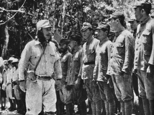 Peleliu Island 1943 - Japanese army construction troops at Palau Islands, 1943.