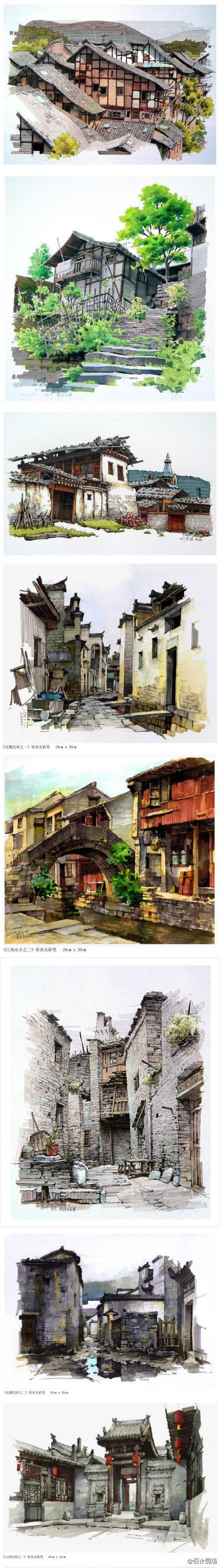 Fine Art Architectural Painting, Artist Study Resources for Art Students, CAPI ::: Create Art Portfolio Ideas at milliande.com , Inspiration for Art School Portfolio Work, How to Paint Buildings and Architecture