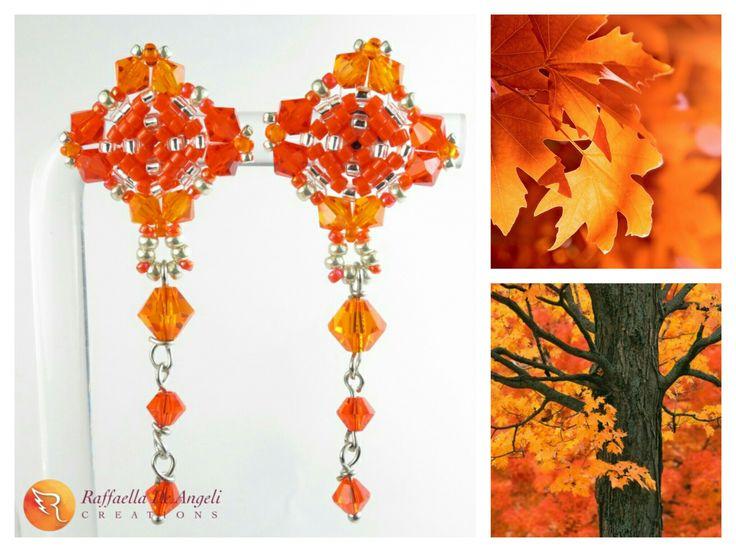 E' arrivato l'autunno, la stagione dei colori caldi per eccellenza. Quale modo migliore di accoglierla, che indossare i fantastici #orecchini Emma 05 realizzati con le #perline Toho?  Acquistali a 23€ sul mio sito: https://www.raffaelladeangeli.it/accessori/330-orecchini-perline-  #RaffaellaDeAngeli #ArtigianiItaliani #ProdottoUnico #MadeInITALY #FattoAMano #Bijoux #Gioielli #Handmade #Jewelry #Beadwork #Accessory #newyork2016 #temporarystore #italianbeauty #earrings
