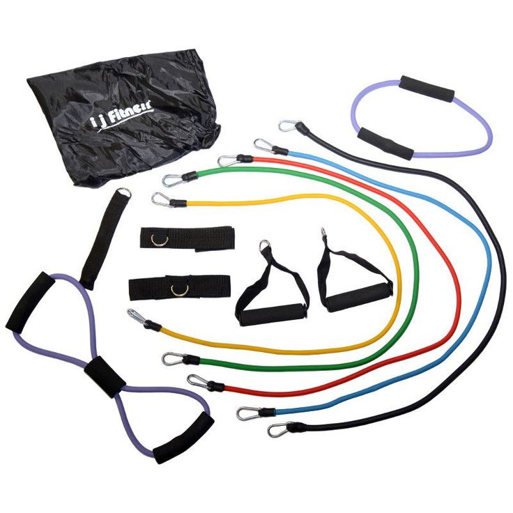 I J Fitness Resistance Bands 13 Piece