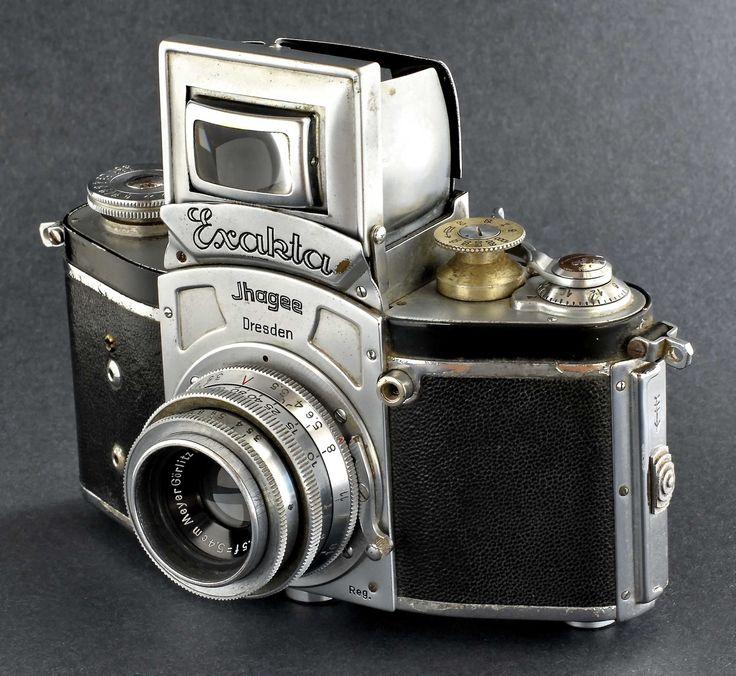 Exacta Kine-Exakta 35mm SLR Camera w 5.4 cm f/3.5 Primotar Lens Pre-War - Film Cameras
