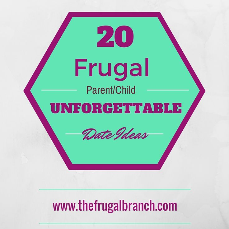 20 Frugal, Unforgettable date ideas for you and your kiddo's. They will love the individual time and so will you! You will leave them feeling super special and your relationship with your child will be even stronger than you ever imagined.