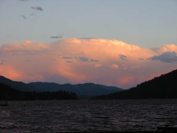 sunset at Christina Lake