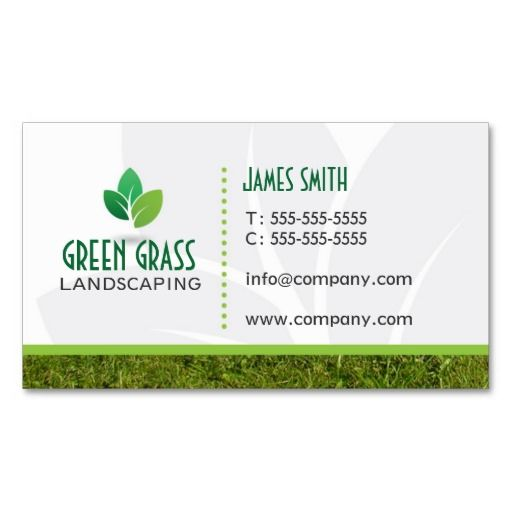Landscaping Professional Business Card Lawn Care