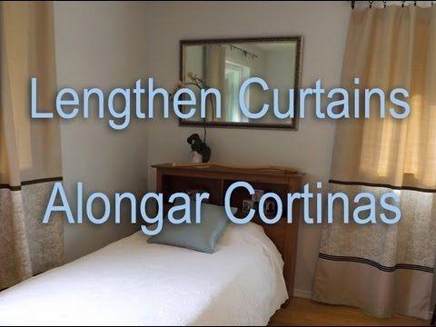 How to Lengthen Curtains. Como Alongar Cortinas.