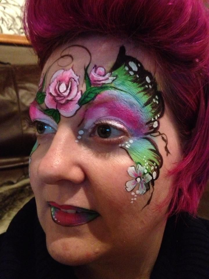 Face paint Butterfly from Debz Faces | face painting ...