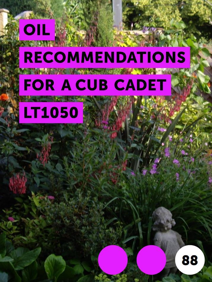 Oil Recommendations for a Cub Cadet LT1050 | Lawn Mowers
