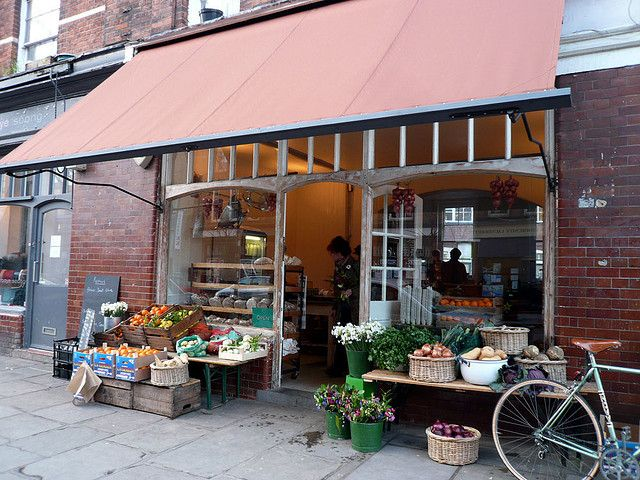 Leila's Shop at the end of our road no.15 - 17 Calvert Avenue, a throw back to the days of traditional fruit and veg shops with a cafe too