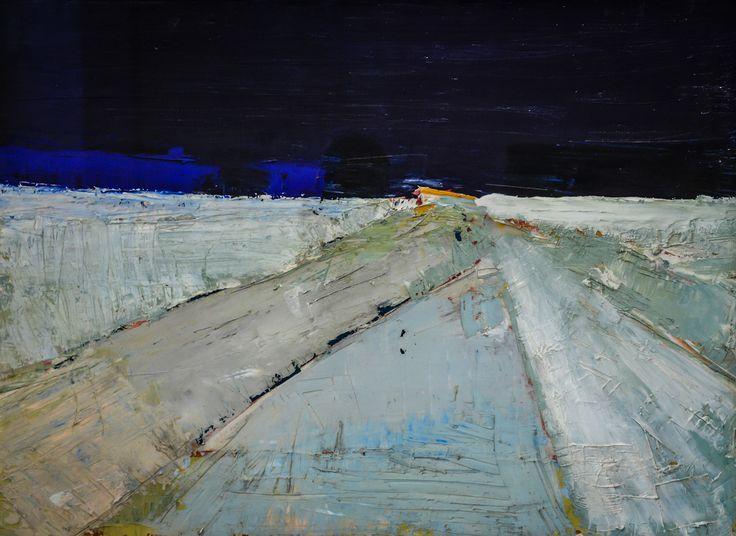 Nicolas de Stael - Landscape, 1954 at Staatliche Kunsthalle Karlsruhe Germany…