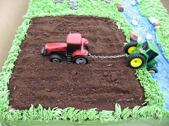 Image result for birthday cakes that have tractors on them