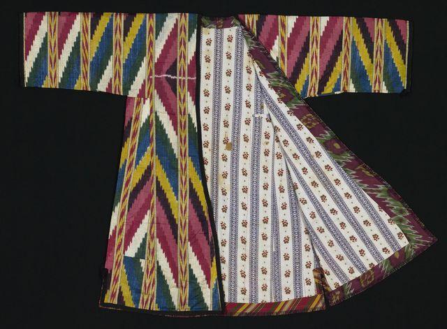 Robe (front), Uzbekistan, Bukhara, mid 19th century, c. 1860-1880 (lining). TM 2005.36.135. The Megalli Collection