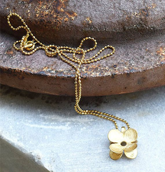 Flower Pendant Simple and Elegant Pendant Sterling by ARTonomousgr