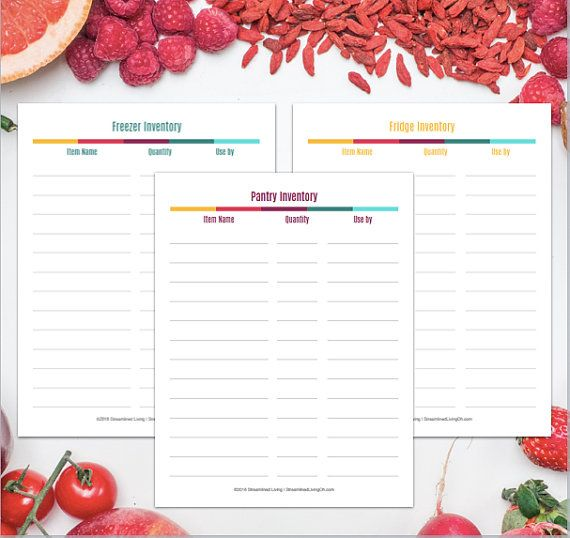 The 25+ best Pantry inventory printable ideas on Pinterest - Inventory Sheet Sample