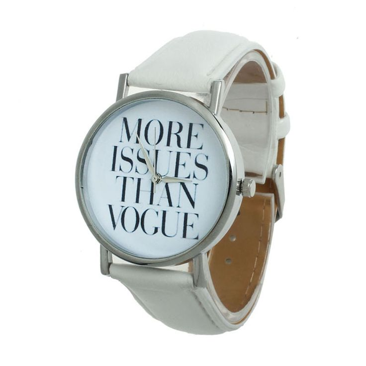 Montre vogue cuir blanche