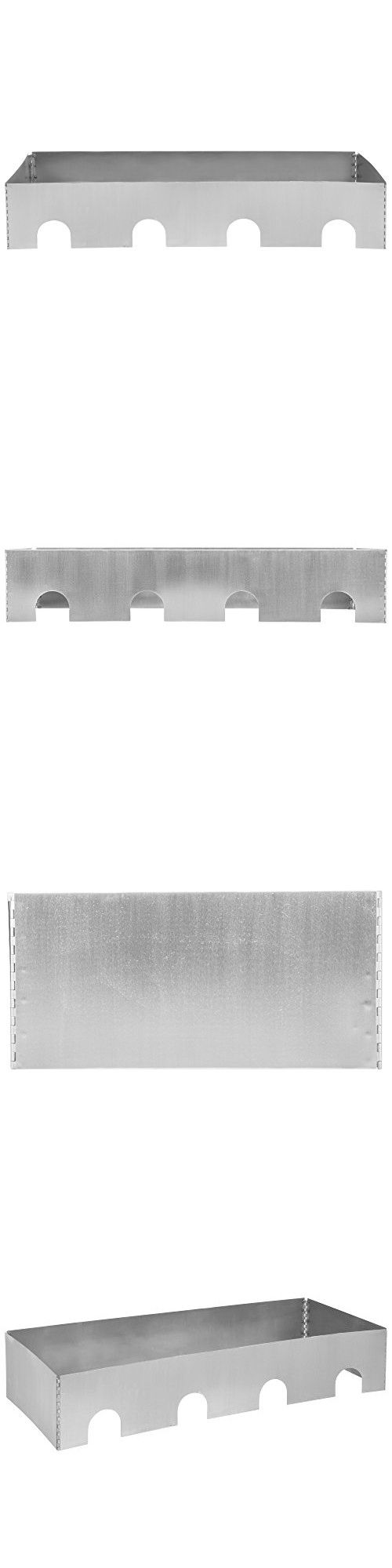 """Tablecraft Caterware CW604BRS 4-Well Collapsible 16 Gauge Brushed Stainless Steel Server - 51 1/2"""" x 20 1/2"""" x 10"""""""