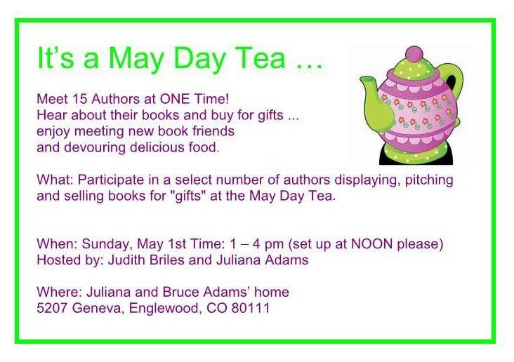 Author U May Day (a) - Invitation - May 2016, Denver. To benefit Author U scholarships.