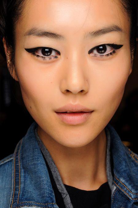 Anna Sui Fall 2013. http://votetrends.com/polls/369/share #makeup #beauty #runway #backstage