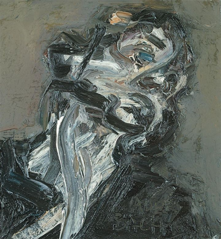 Tate Britain exhibition of painter Frank Auerbach who specialised in impasto figurative, portrait and landscapes paintings, at Tate Britain 9 October 2015 – 7 February 2016