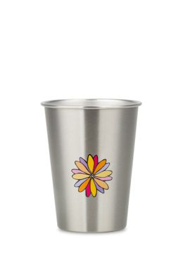 NEW LOOK DAISY 350ml illustrated stainless steel cup. RRP $10.95