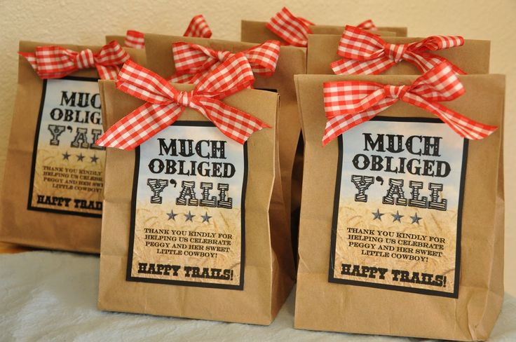 "Western/Cowboy Baby Shower ""Happy Trails"" Trail Mix Party Favors - this might be a cheaper/easier favor option... what do you ladies think? @Yvette Kearney @Melissa Foresta"