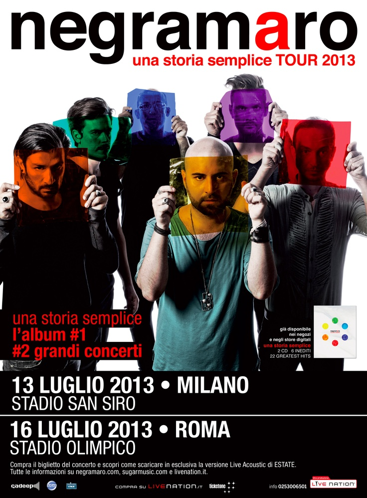 Una storia semplice TOUR 2013 - Official Poster - #sansiro2013 #olimpico2013